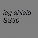 Leg shield ss90 ss50 in fiberglass super light vespa racer